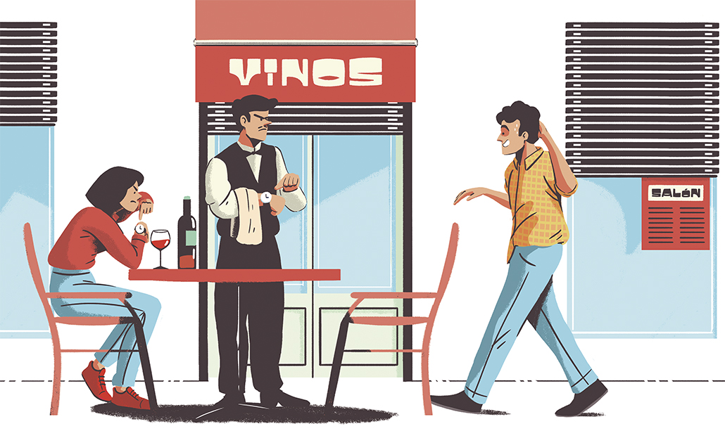 ¿Esperaría media hora a un amigo para comer?